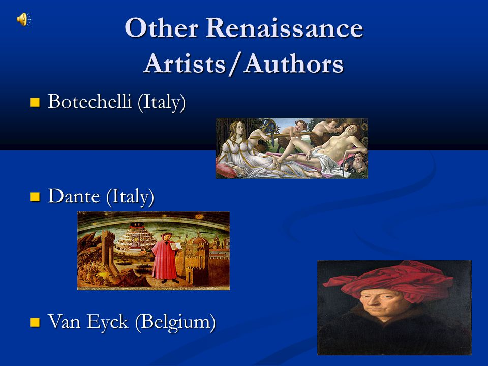 Other Renaissance Artists/Authors