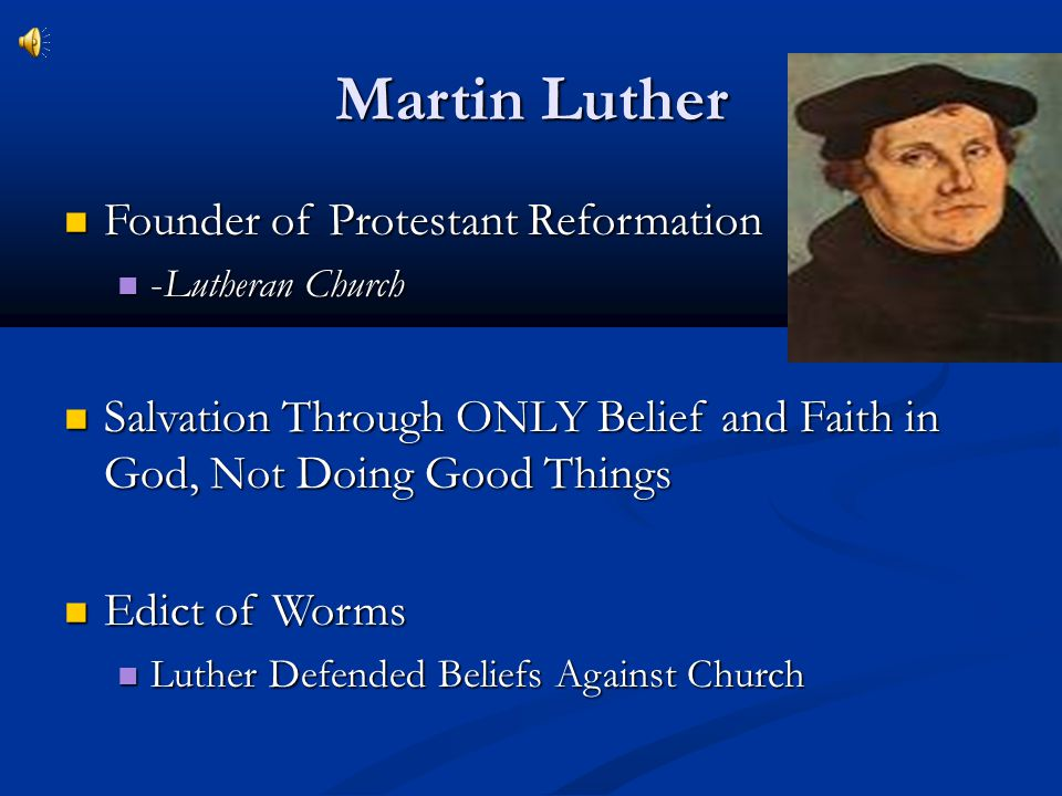 Martin Luther Founder of Protestant Reformation