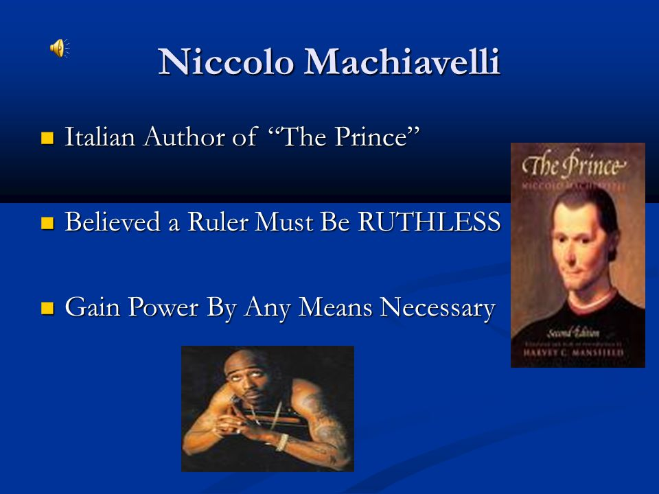 Niccolo Machiavelli Italian Author of The Prince