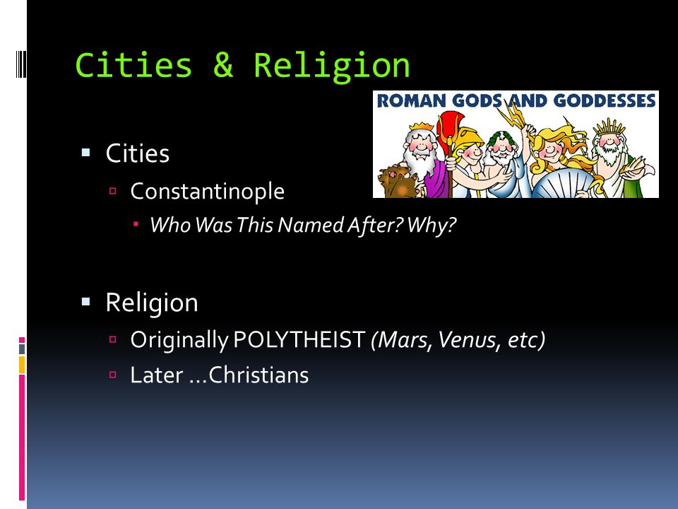 Cities & Religion Cities Religion Constantinople