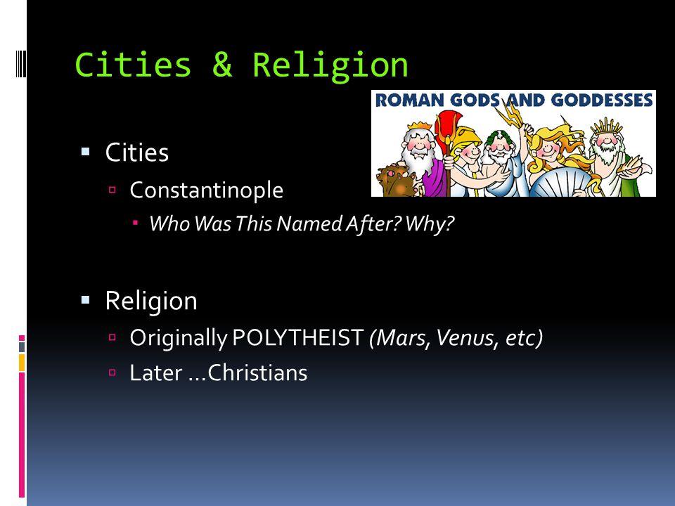 Cities & Religion Cities Religion Constantinople