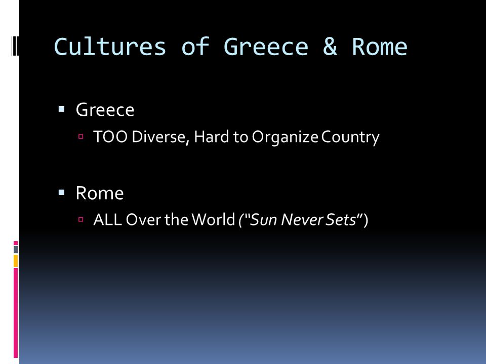 Cultures of Greece & Rome