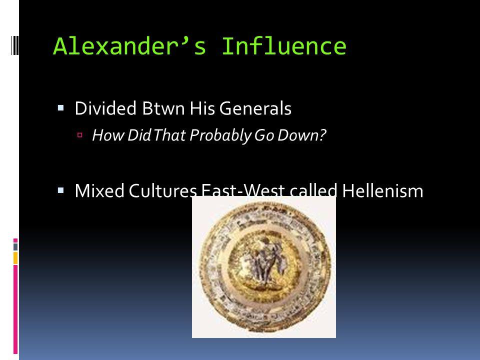 Alexander's Influence