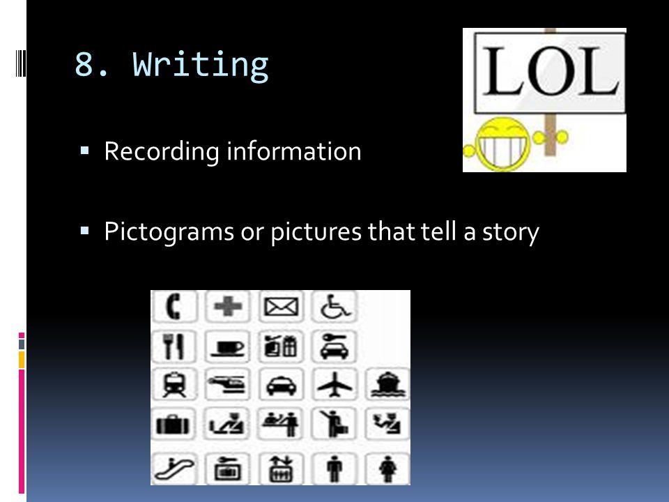 8. Writing Recording information