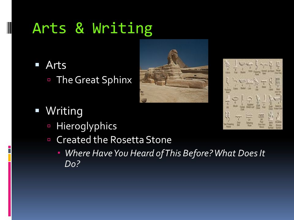 Arts & Writing Arts Writing The Great Sphinx Hieroglyphics
