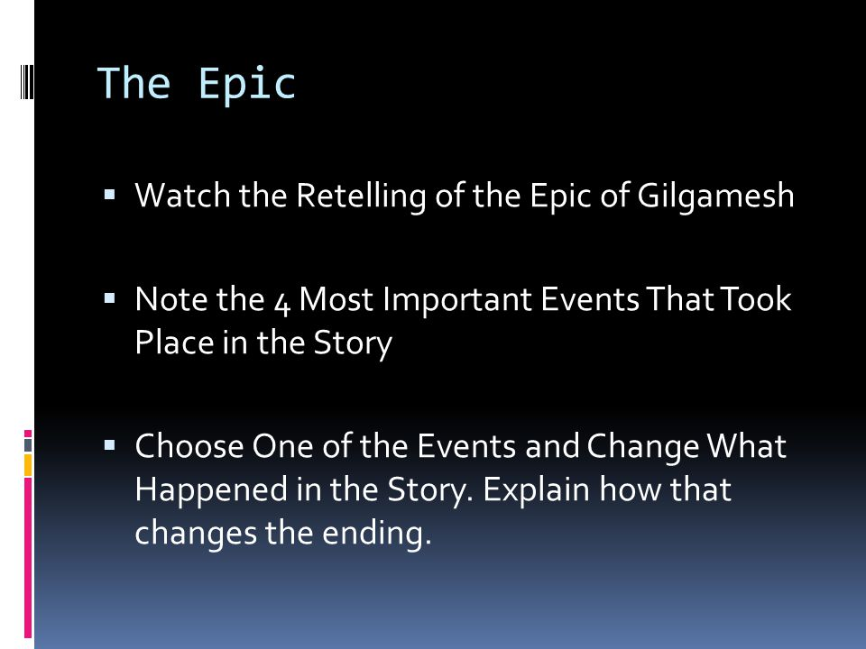 The Epic Watch the Retelling of the Epic of Gilgamesh