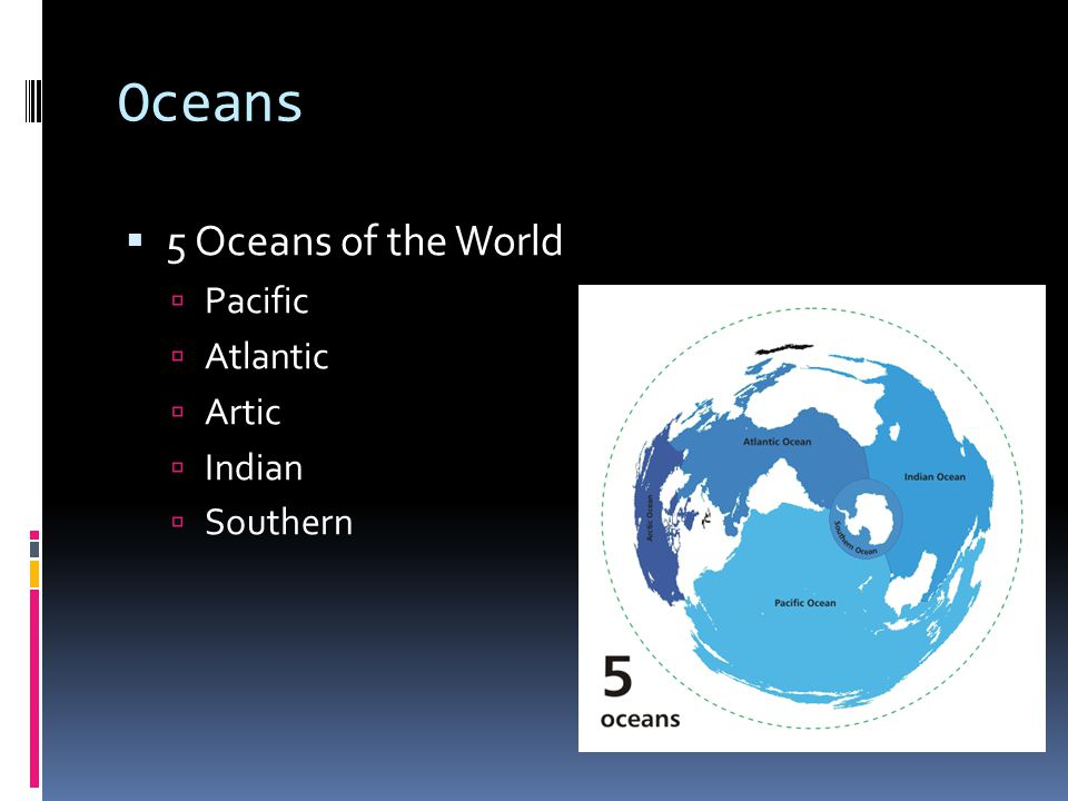 Oceans 5 Oceans of the World Pacific Atlantic Artic Indian Southern