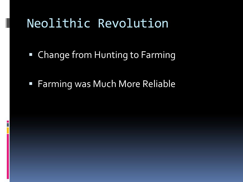 Neolithic Revolution Change from Hunting to Farming