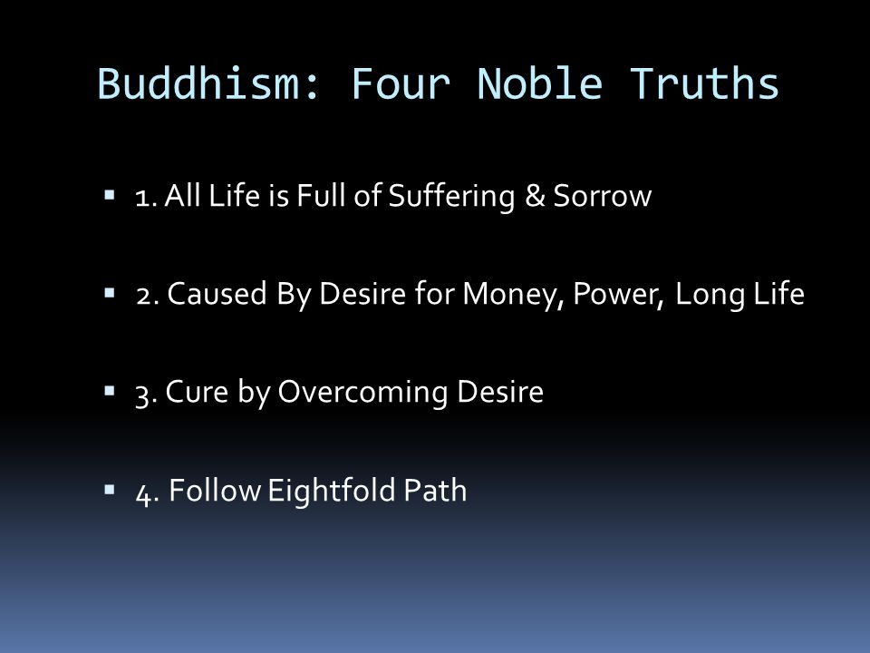 Buddhism: Four Noble Truths