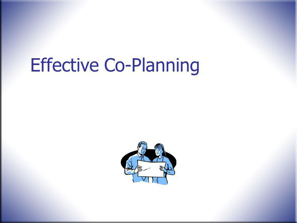 Effective Co-Planning