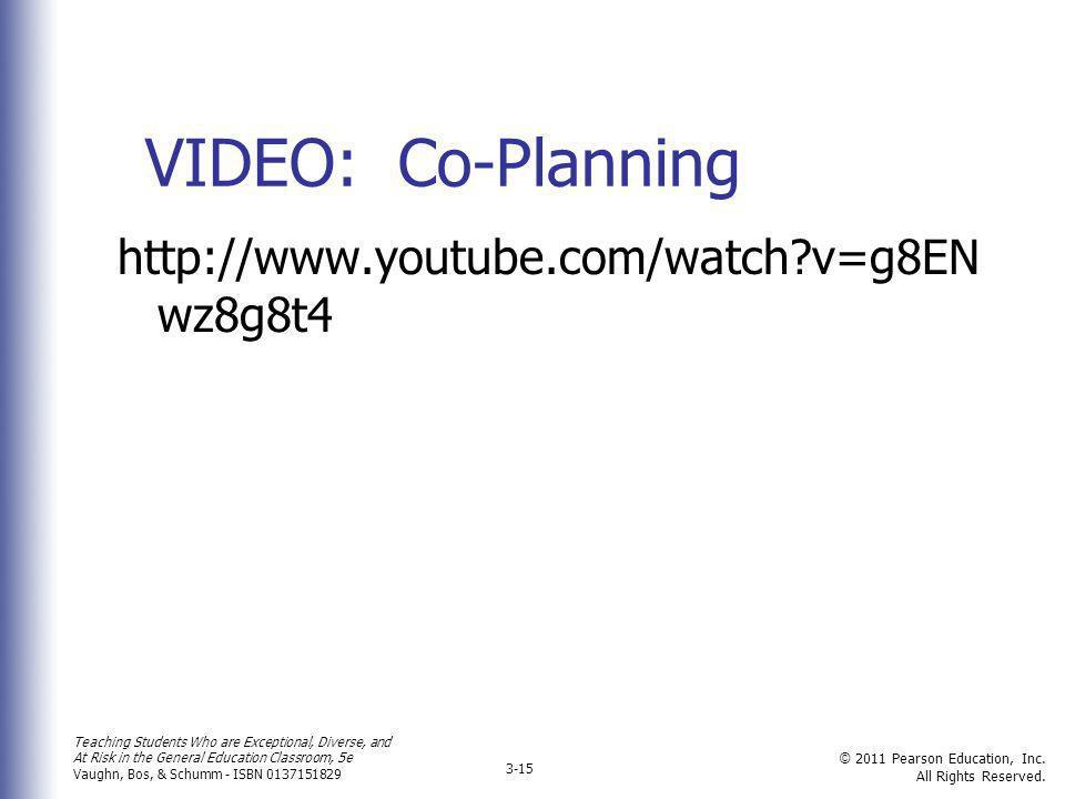 VIDEO: Co-Planning http://www.youtube.com/watch v=g8ENwz8g8t4