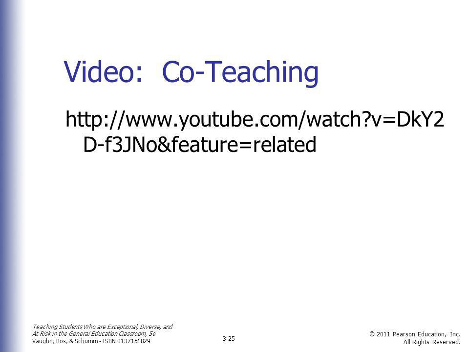 Video: Co-Teaching http://www.youtube.com/watch v=DkY2D-f3JNo&feature=related