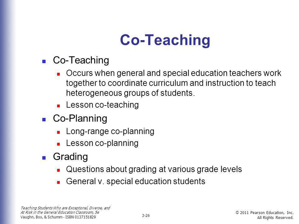 Co-Teaching Co-Teaching Co-Planning Grading
