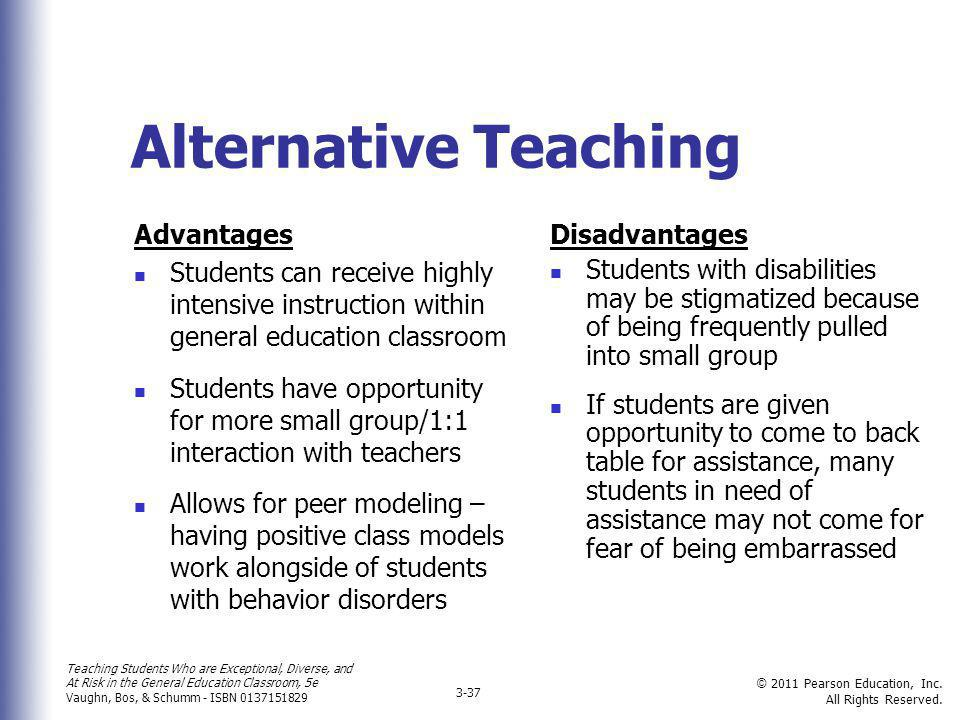 Alternative Teaching Advantages