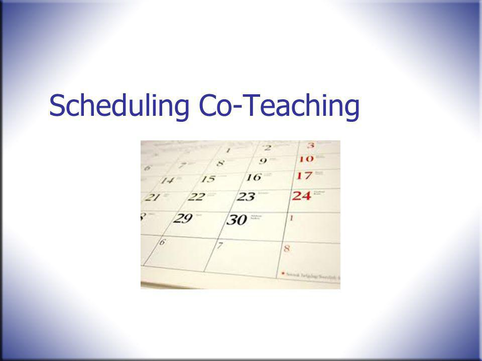 Scheduling Co-Teaching