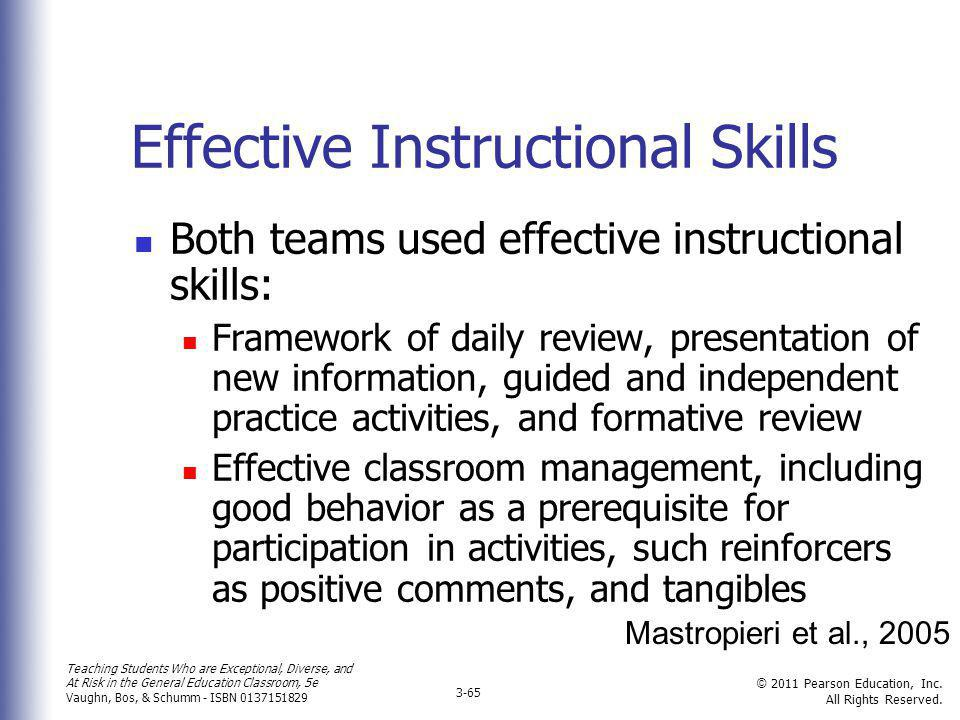Effective Instructional Skills