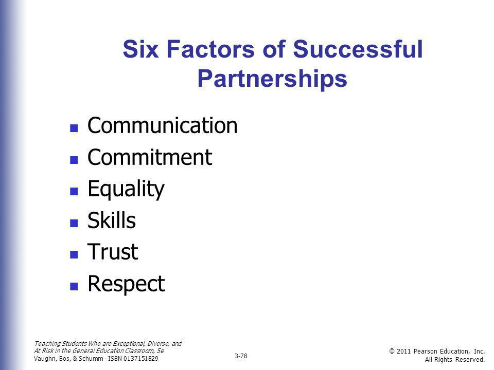 Six Factors of Successful Partnerships