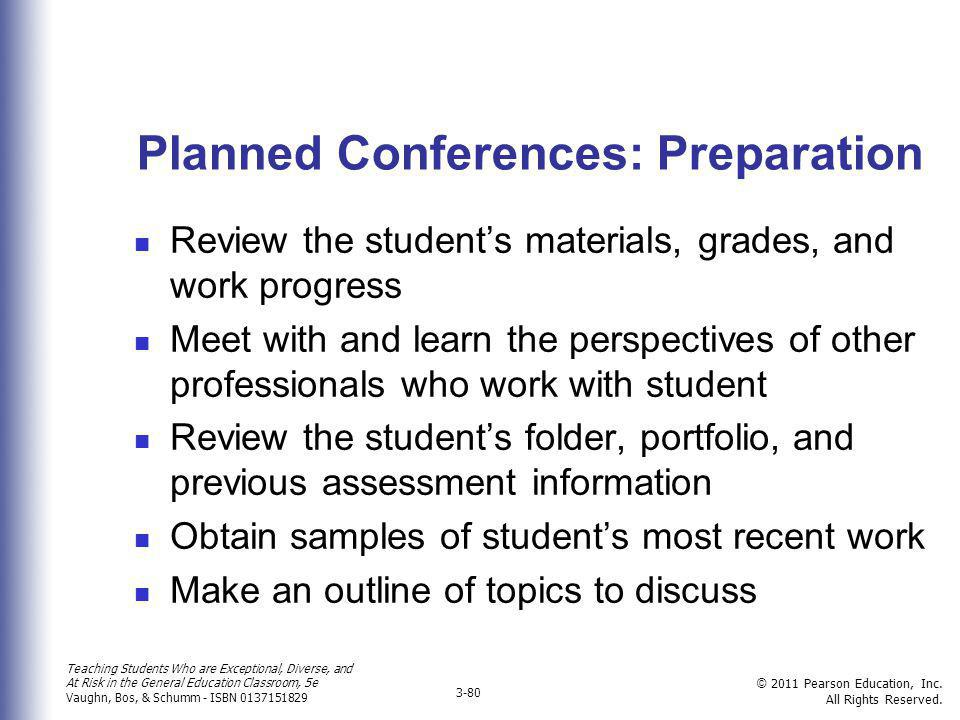Planned Conferences: Preparation