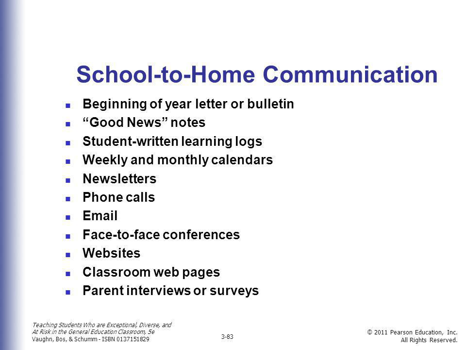 School-to-Home Communication