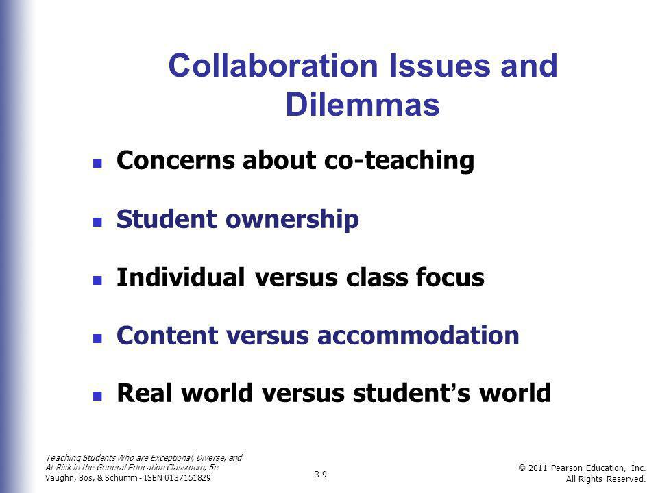 Collaboration Issues and Dilemmas