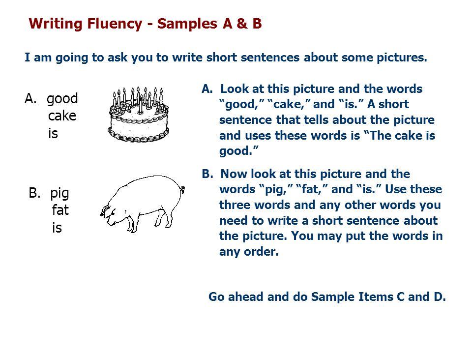 Writing Fluency - Samples A & B