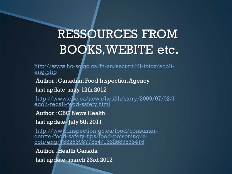 RESSOURCES FROM BOOKS,WEBITE etc.