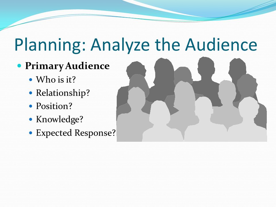 Planning: Analyze the Audience