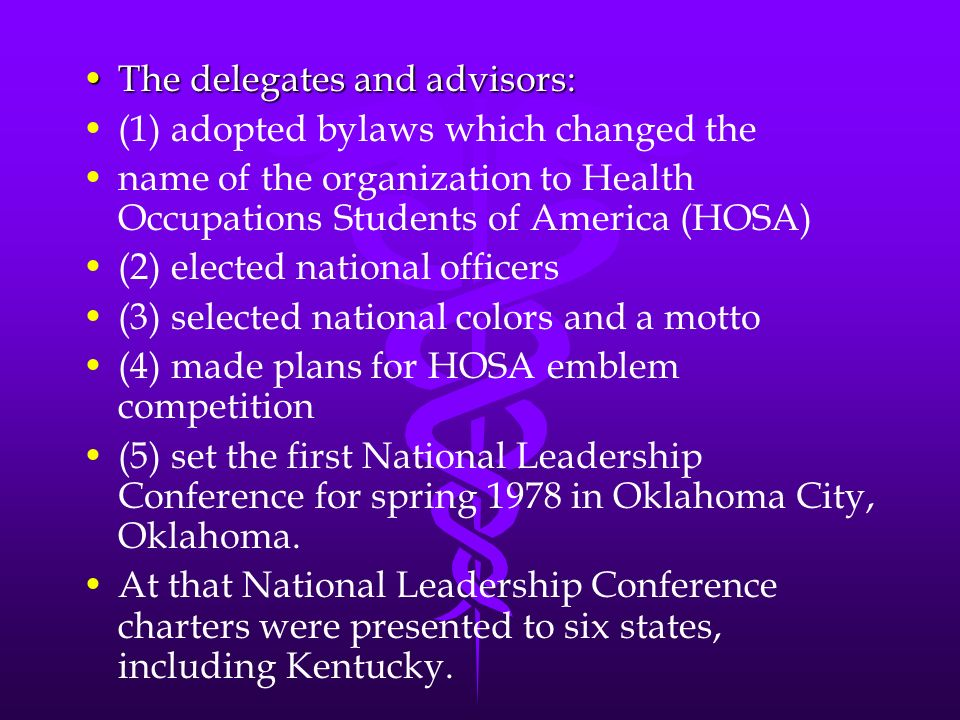 The delegates and advisors: