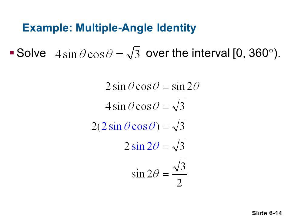 Example: Multiple-Angle Identity