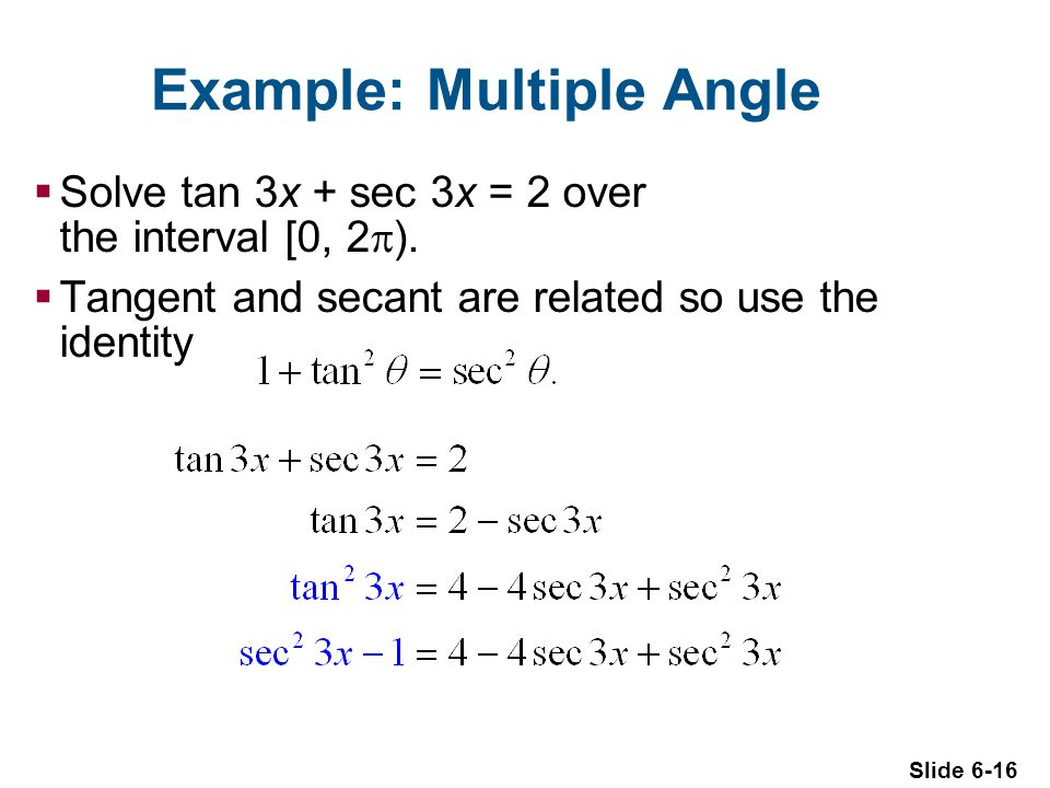 Example: Multiple Angle