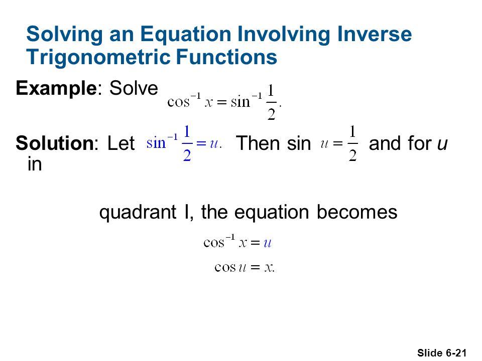 Solving an Equation Involving Inverse Trigonometric Functions
