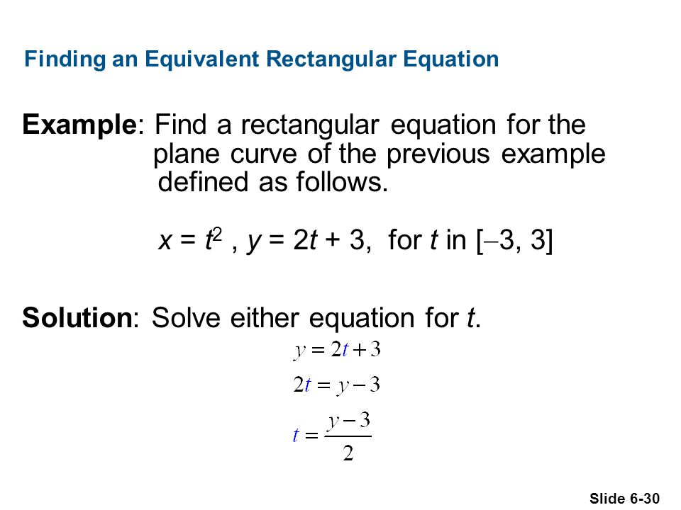 Finding an Equivalent Rectangular Equation