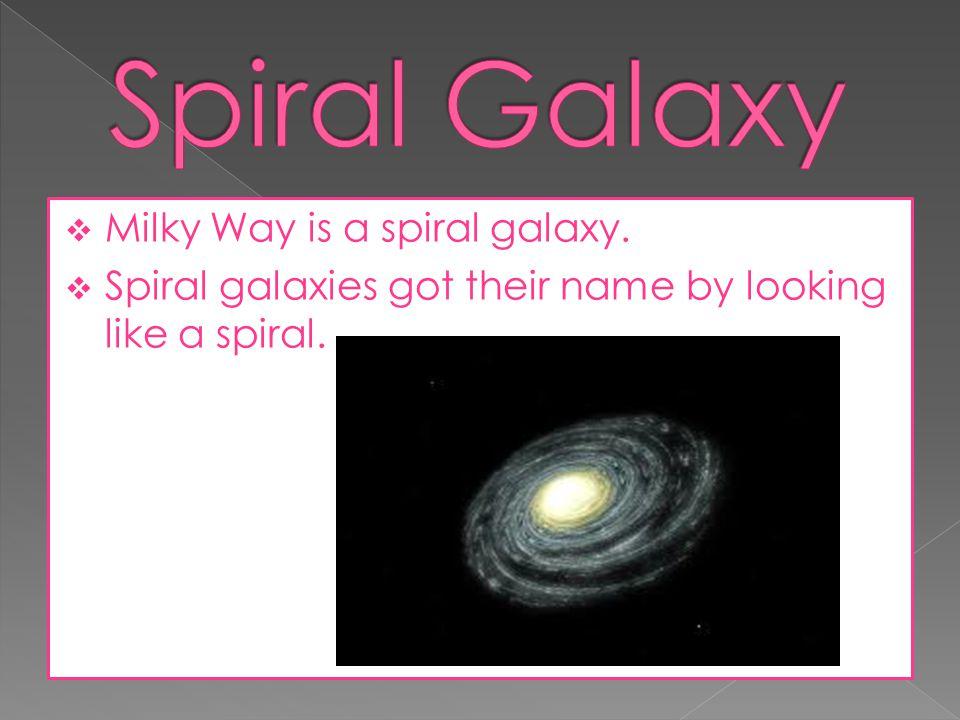 Spiral Galaxy Milky Way is a spiral galaxy.