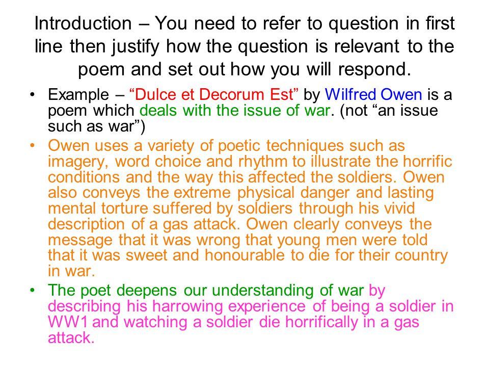 essays on wilfred owen poems