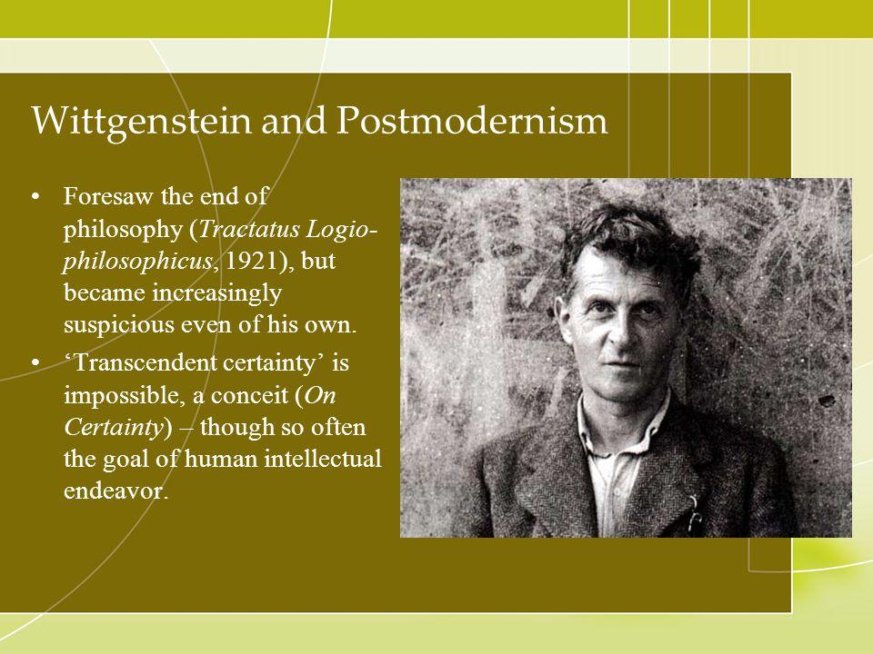 Wittgenstein and Postmodernism