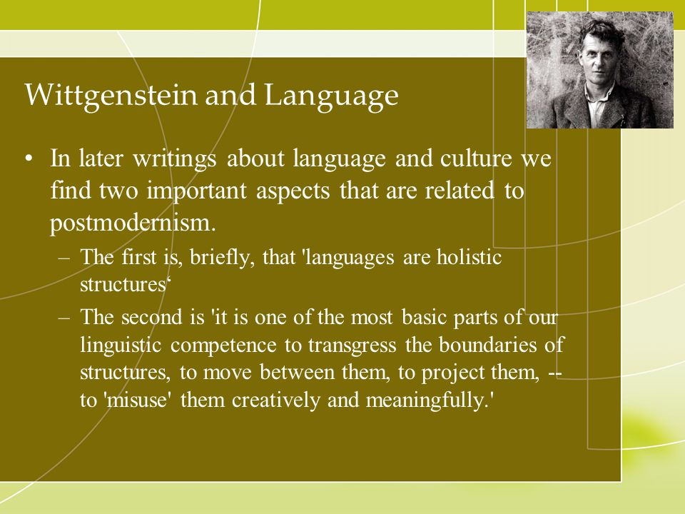 Wittgenstein and Language
