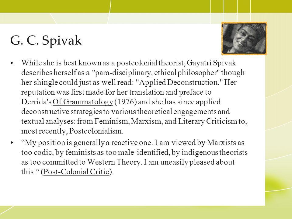 G. C. Spivak