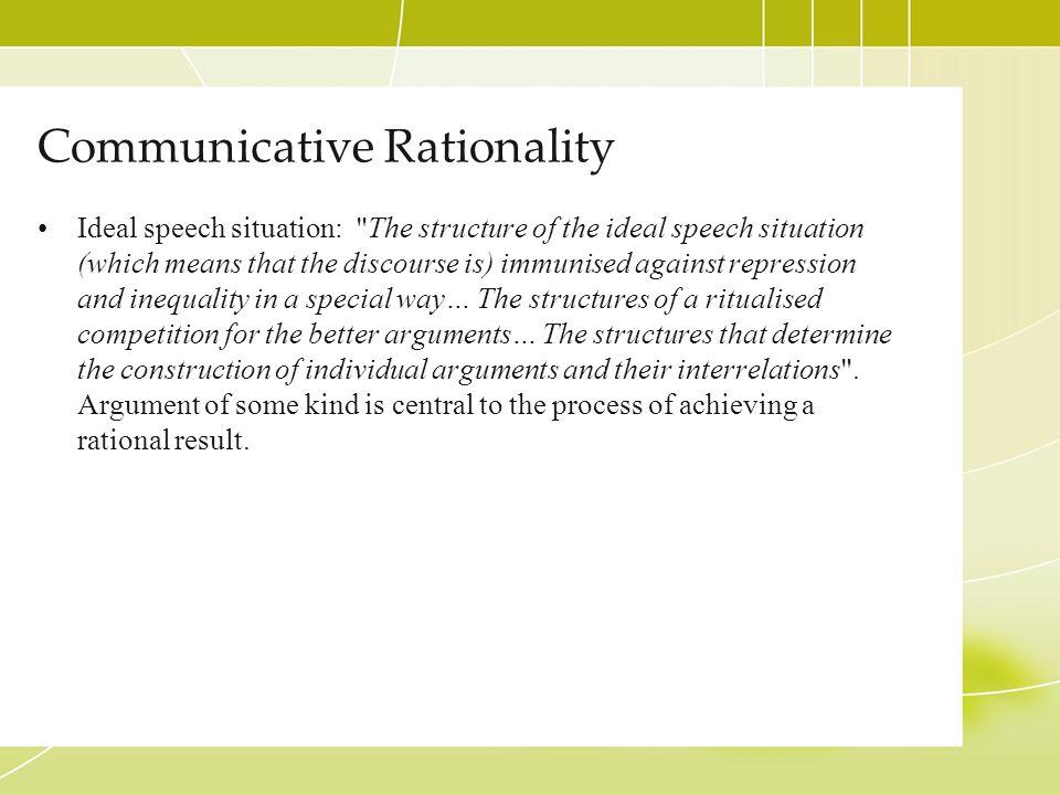 Communicative Rationality