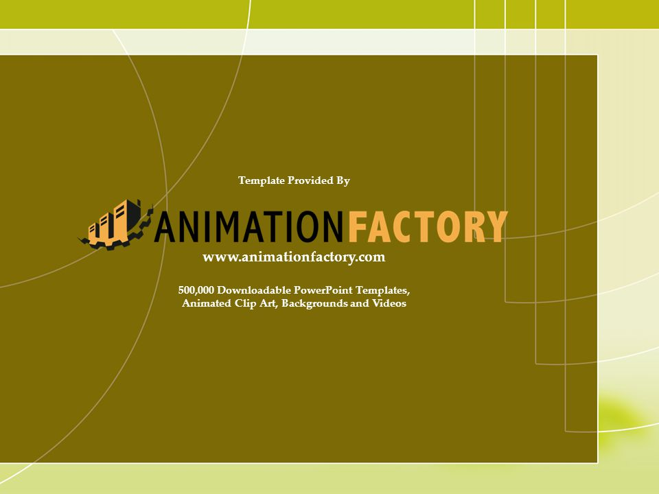 www.animationfactory.com Template Provided By