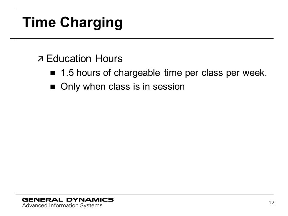 Time Charging Education Hours