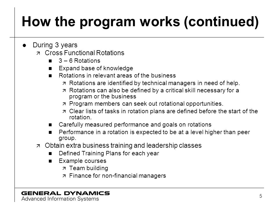 How the program works (continued)