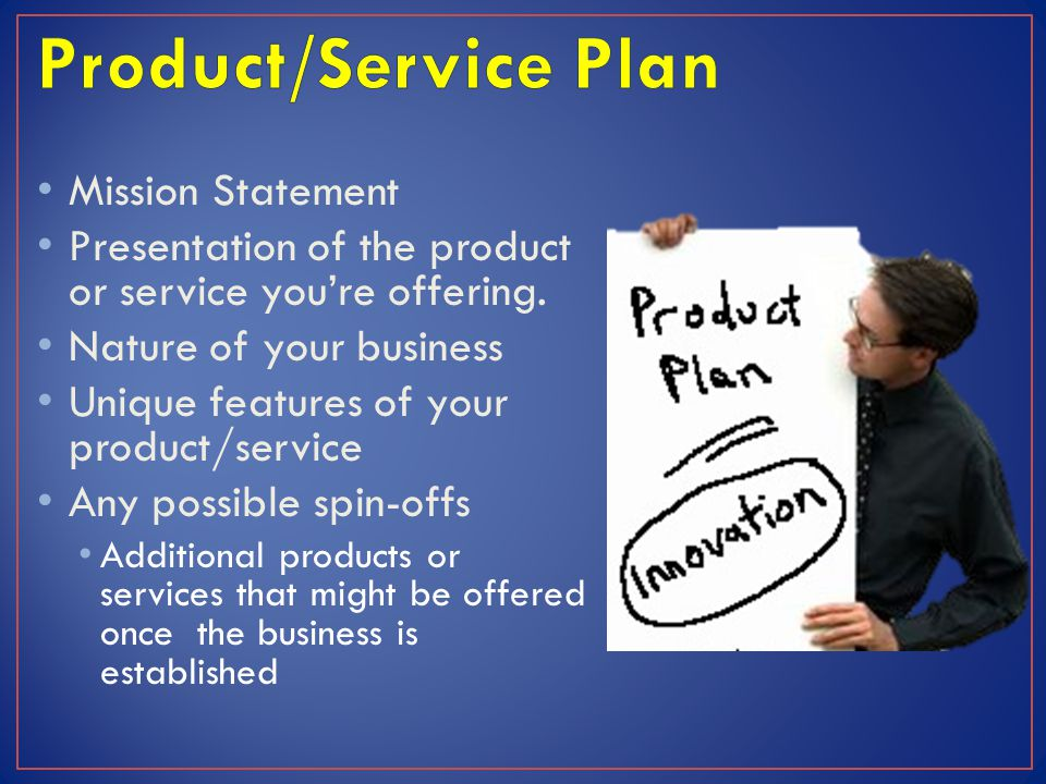 Product/Service Plan Mission Statement