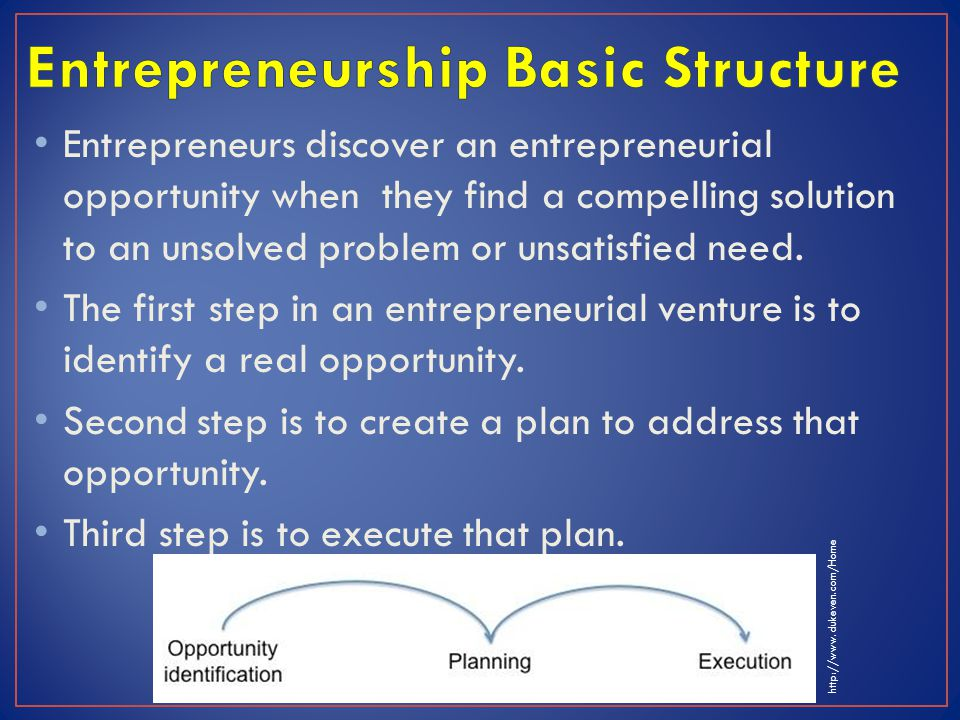 Entrepreneurship Basic Structure