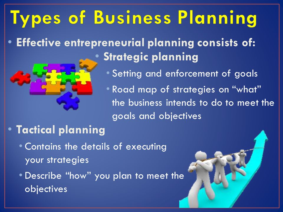 Types of Business Planning