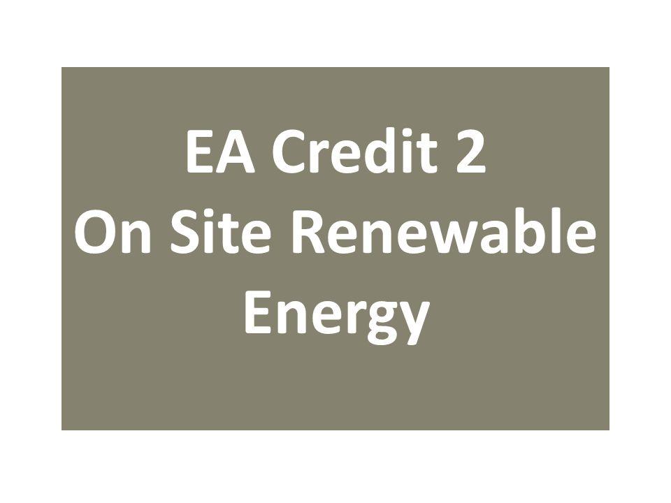 EA Credit 2 On Site Renewable Energy