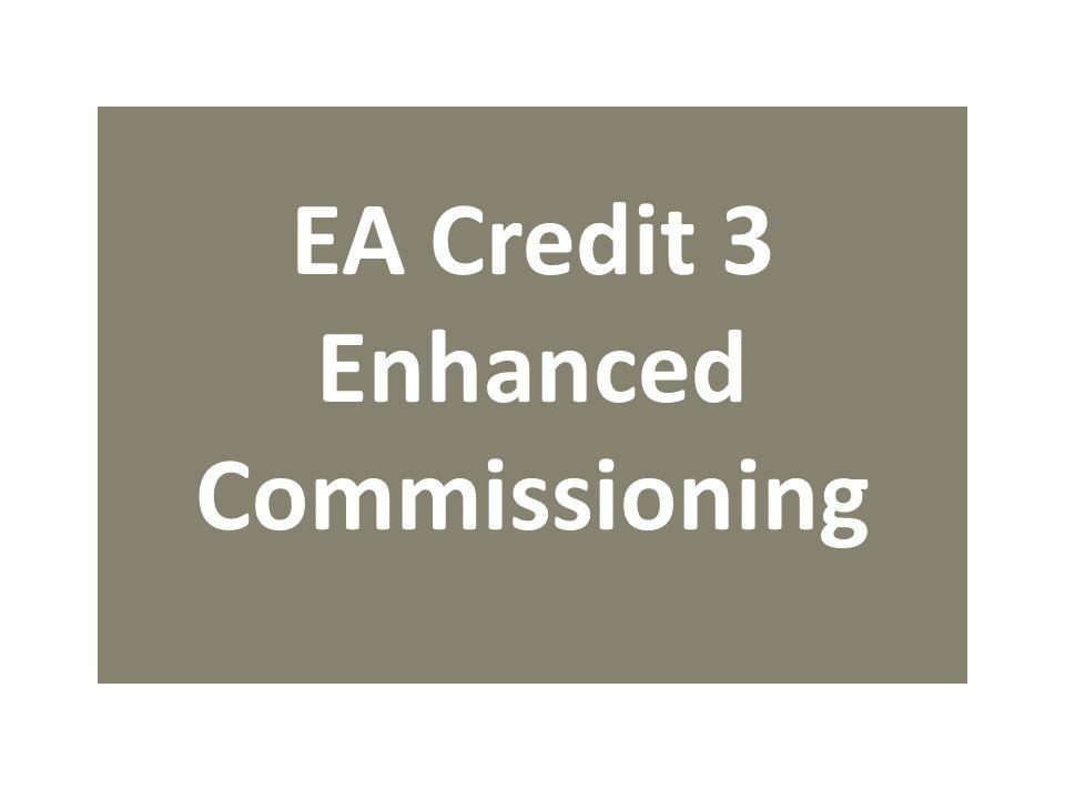EA Credit 3 Enhanced Commissioning