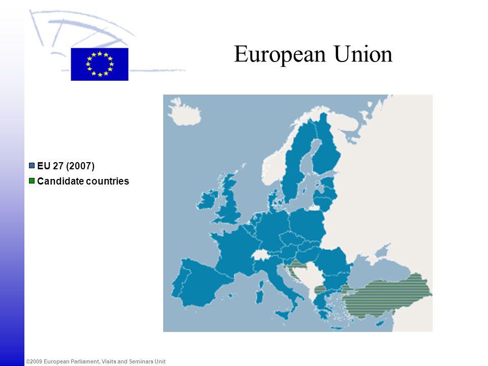 European Union EU 27 (2007) Candidate countries