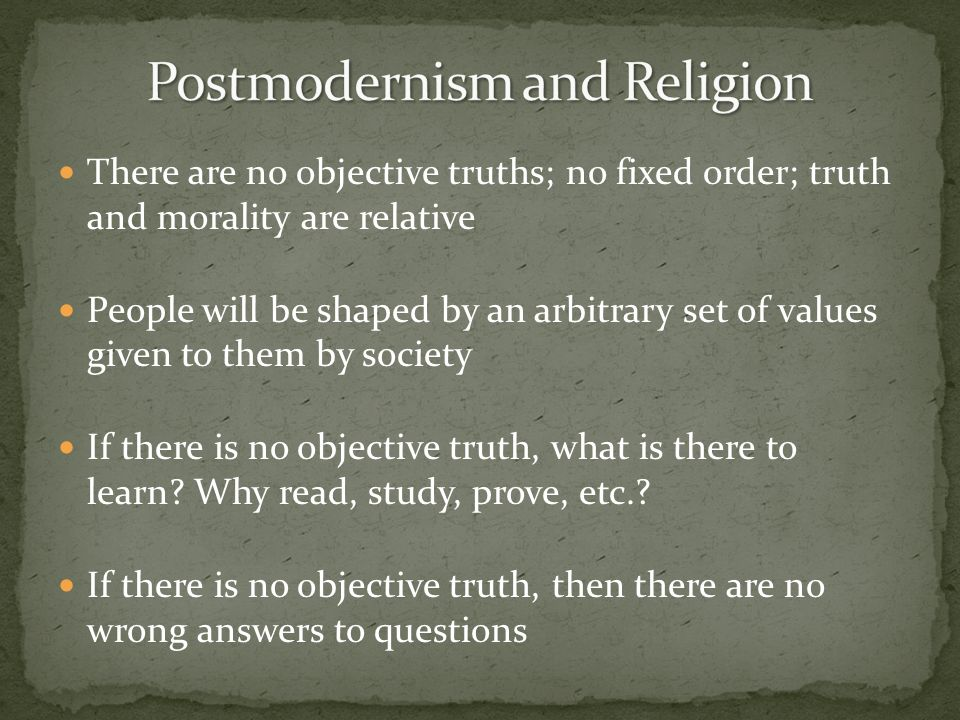 Postmodernism and Religion