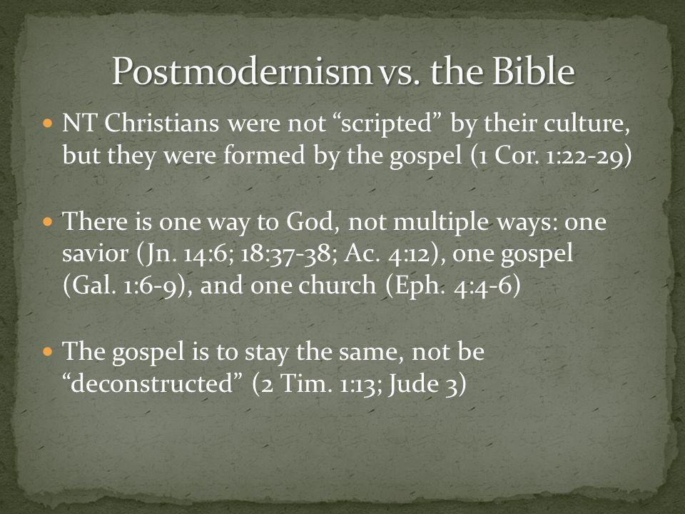 Postmodernism vs. the Bible