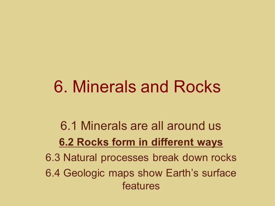 6.2 Rocks form in different ways